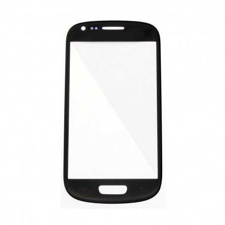 Vitre Samsung Galaxy S3 Mini Noir + Autocollant
