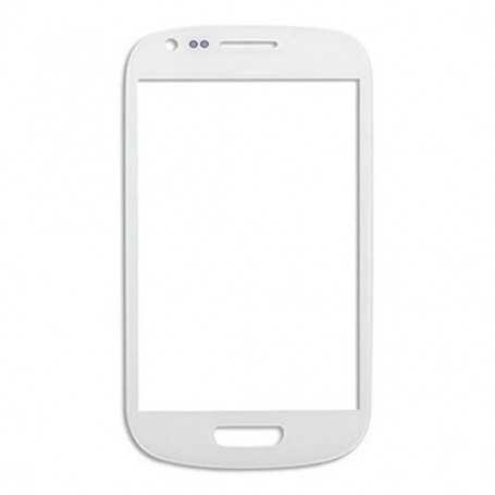 Vitre Samsung Galaxy S3 Mini Blanc + Autocollant