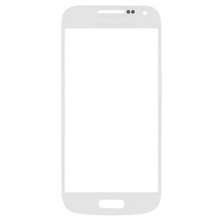 Vitre tactile Samsung Galaxy S4 Mini Blanc + Autocollant