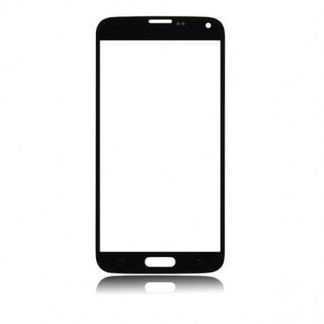 Vitre tactile Samsung Galaxy S5 Noir + Autocollant