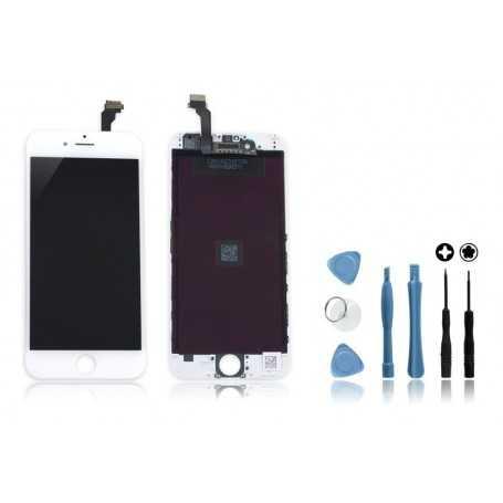 Kit Ecran original pour iPhone 6 Blanc : Vitre + Ecran LCD + Outils