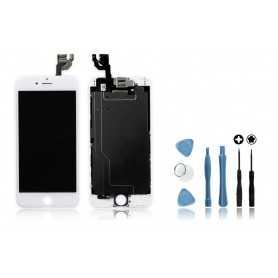 Kit Ecran original complet pour iPhone 6 Blanc : Vitre + Ecran LCD + Elements + Outils