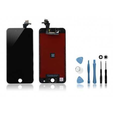 Kit Ecran original pour iPhone 6 Plus Noir : Vitre + Ecran LCD + Outils