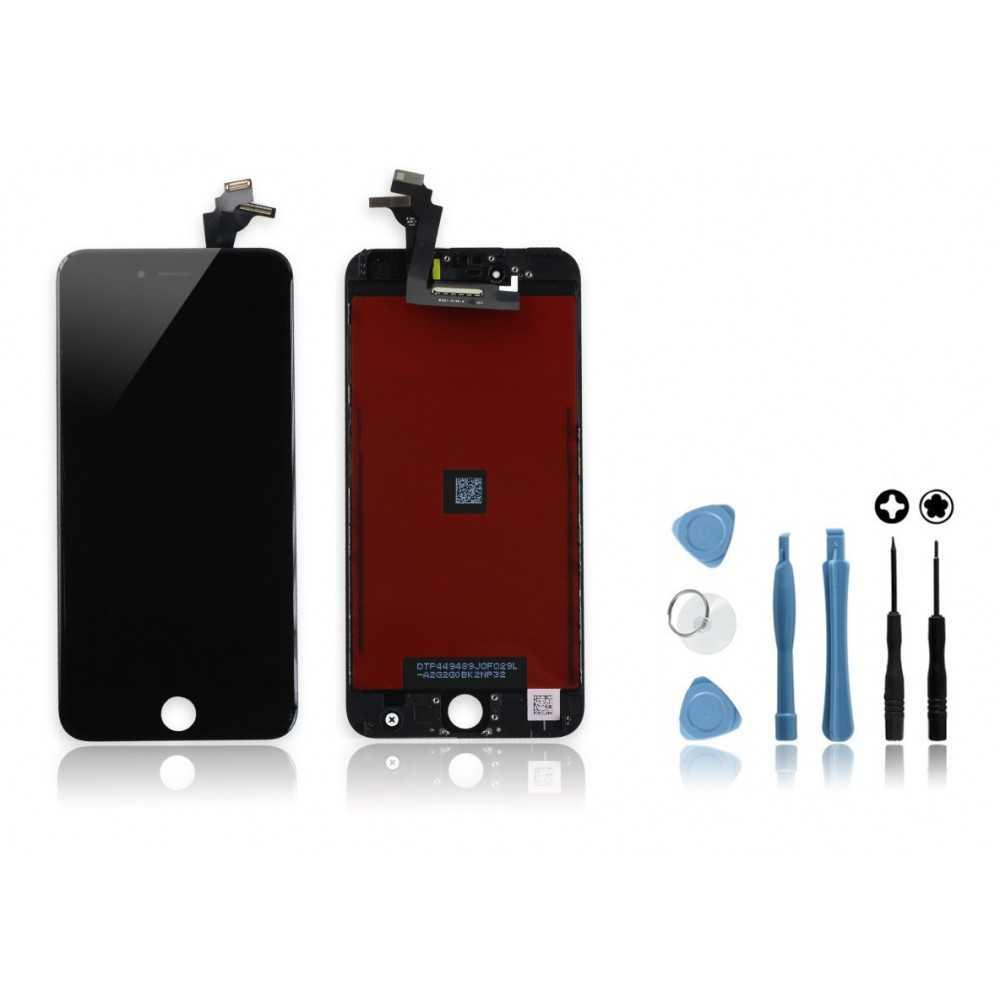 kit ecran original pour iphone 6 plus noir vitre ecran. Black Bedroom Furniture Sets. Home Design Ideas
