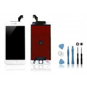 Kit Ecran original pour iPhone 6 Plus Blanc : Vitre + Ecran LCD + Outils