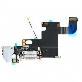 Connecteur de charge pour iPhone 6 Noir ou Blanc avec Prise casque + Micro