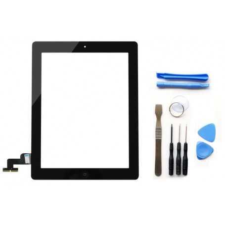 Kit Ecran/Vitre tactile Complète pour iPad 2 Noir + Outils iPad + Autocollant 3M