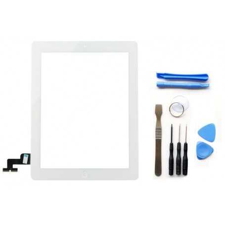 Kit Ecran/Vitre tactile Complète pour iPad 2 Blanc + Outils iPad + Autocollant 3M