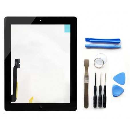 Kit Ecran/Vitre tactile Complète pour iPad 3 et 4 Noir + Outils iPad + Autocollant 3M