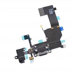 Connecteur de charge Lightning iPhone 5C Noir ou Blanc avec Prise casque + Micro + Antenne