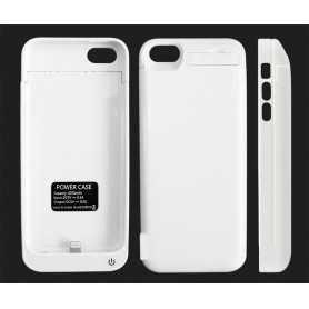 Coque avec Batterie intégrée pour iPhone 5 et 5S - 4200 mAh - Blanche
