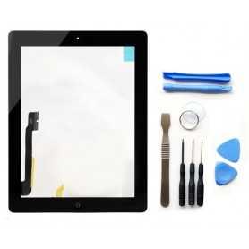 Kit Ecran/Vitre tactile Complète pour iPad 4 Noir + Outils iPad + Autocollant 3M
