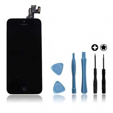 Kit Ecran original complet pour iPhone 5C Noir : Vitre + Ecran LCD + Elements + Outils