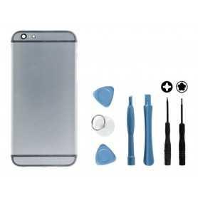 Kit Coque arrière pour iPhone 6 Noir : Coque arrière + Outils
