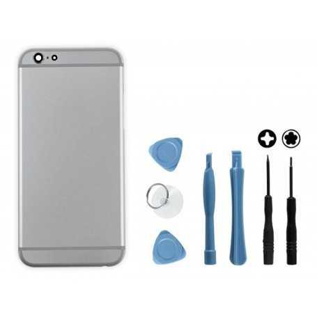 Kit Coque arrière pour iPhone 6 Argent : Coque arrière + Outils
