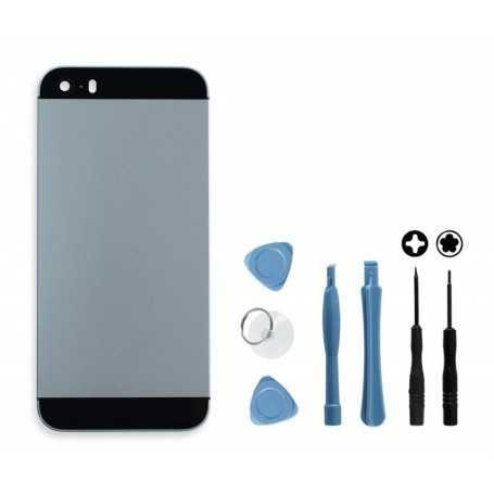 Kit Coque arrière pour iPhone 5S Noir : Coque arrière + Outils