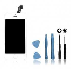 Kit Ecran original pour iPhone 5C Blanc : Vitre Tactile + Ecran LCD + Outils