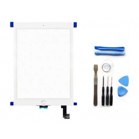 Kit Ecran/Vitre tactile Complète pour iPad Air Blanc + Outils iPad