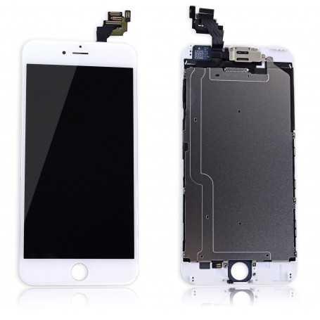 Ecran complet pour iPhone 6 Plus Blanc : Vitre + Ecran LCD + Elements