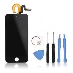 Kit Ecran complet pour iPod Touch 6 Noir : Vitre Tactile + Ecran LCD + Outils