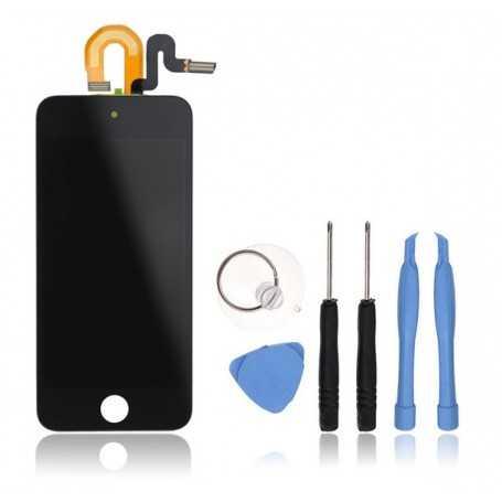 Kit Ecran complet pour iPod Touch 5 Noir : Vitre Tactile + Ecran LCD + Outils
