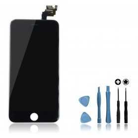 Kit Ecran original complet pour iPhone 6 Plus Noir : Vitre + Ecran LCD + Elements + Outils