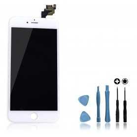 Kit Ecran original complet pour iPhone 6 Plus Blanc : Vitre + Ecran LCD + Elements + Outils