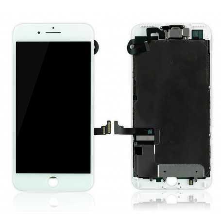 Ecran original complet pour iPhone 7 Plus Blanc : Vitre + Ecran LCD + Elements