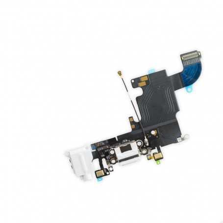 Connecteur de charge pour iPhone 6S Blanc ou Gris Foncé ou Gris Clair avec Prise casque + Micro
