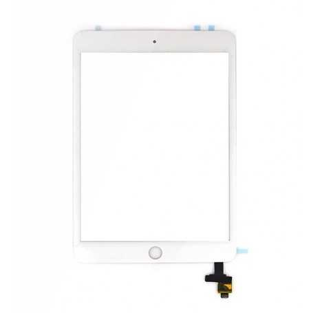 Ecran/Vitre tactile Complète pour iPad Mini 3 Blanc + Autocollant 3M