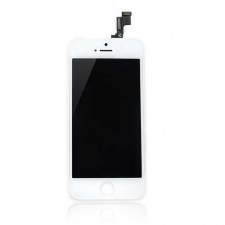 Face avant Originale pour iPhone 5S Blanc : Vitre Tactile + Ecran LCD