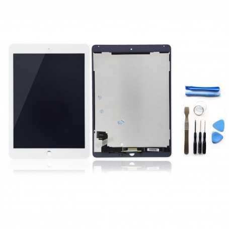 Kit Vitre tactile + Ecran LCD assemblés pour iPad Air 2 Blanc + Outils iPad