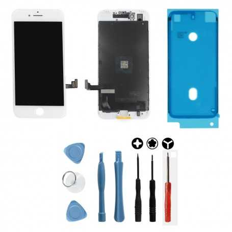 Kit Ecran original pour iPhone 7 Blanc : Vitre + Ecran LCD + Outils