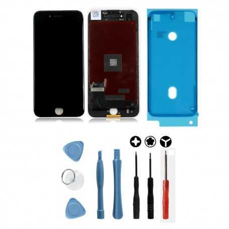 Kit Ecran original pour iPhone 7 Noir : Vitre + Ecran LCD + Outils