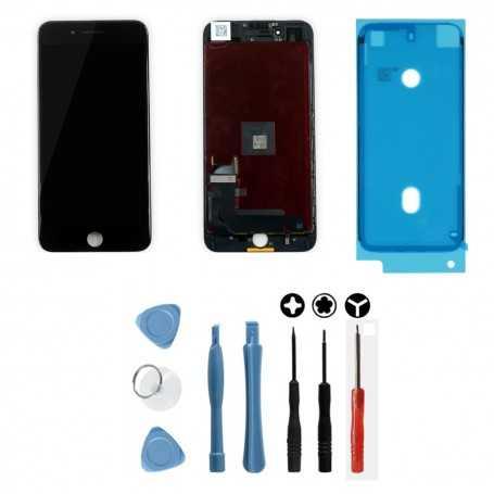 Kit Ecran original pour iPhone 7 Plus Noir : Vitre + Ecran LCD + Outils