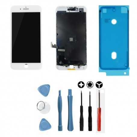 Kit Ecran original pour iPhone 7 Plus Blanc : Vitre + Ecran LCD + Outils
