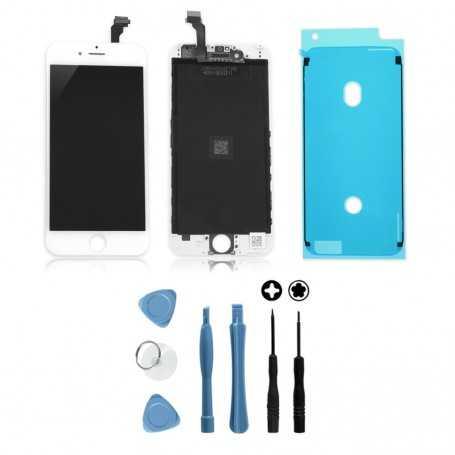 Kit Ecran original pour iPhone 6S Blanc avec joint d'étanchéité : Vitre + Ecran LCD + Outils
