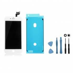 Kit Ecran original complet pour iPhone 6S Blanc : Vitre + Ecran LCD + Elements + Outils