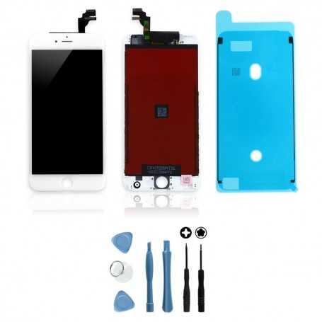 Kit Ecran original pour iPhone 6S Plus Blanc : Vitre + Ecran LCD + Outils