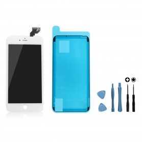 Kit Ecran original complet pour iPhone 6S Plus Blanc : Vitre + Ecran LCD + Elements + Outils