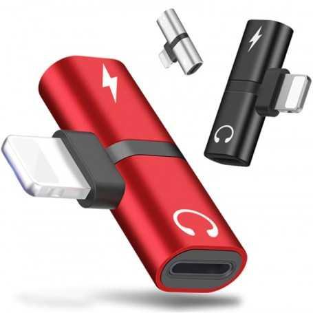 Adaptateur Lightning Audio et Charge 2 en 1 pour iPhone, iPod, iPad
