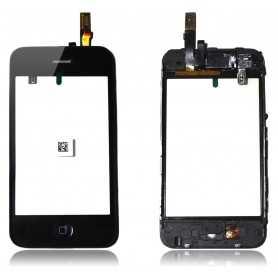 Vitre tactile pour iPhone 3GS Noir Montée sur Chassis