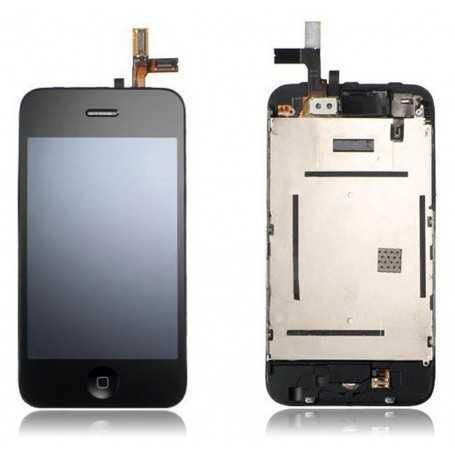 Ecran LCD assemblé avec Vitre Tactile et Chassis pour iPhone 3GS Noir