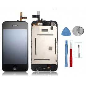 Kit Ecran original pour iPhone 3GS Noir : Vitre Tactile + Ecran LCD + Outils