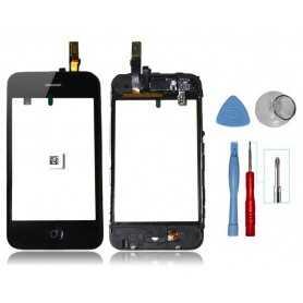 Kit Vitre tactile iPhone 3GS Noir Montée sur Chassis + Outils iPhone