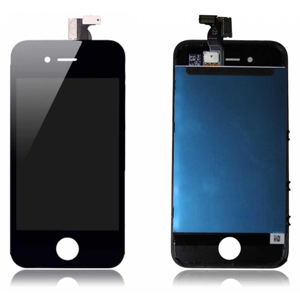 Ecran complet iphone 4 noir vitre tactile ecran lcd for Ecran photo iphone noir