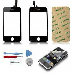 Kit Ecran/Vitre tactile iPhone 3GS Noir + Outils + Autocollants 3M + Film protecteur