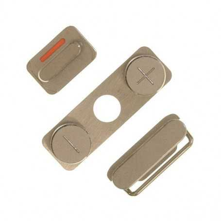 Lot de 3 Boutons pour iPhone 4 : Volume, Vibreur, Power