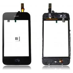 Ecran/Vitre tactile pour iPhone 3G Noir Montée sur Chassis