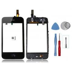 Kit Vitre/Ecran tactile iPhone 3G Noir Montée sur Chassis + Outils iPhone